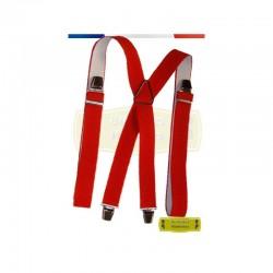Bretelles Hommes 130 cm Grande Taille Rouge