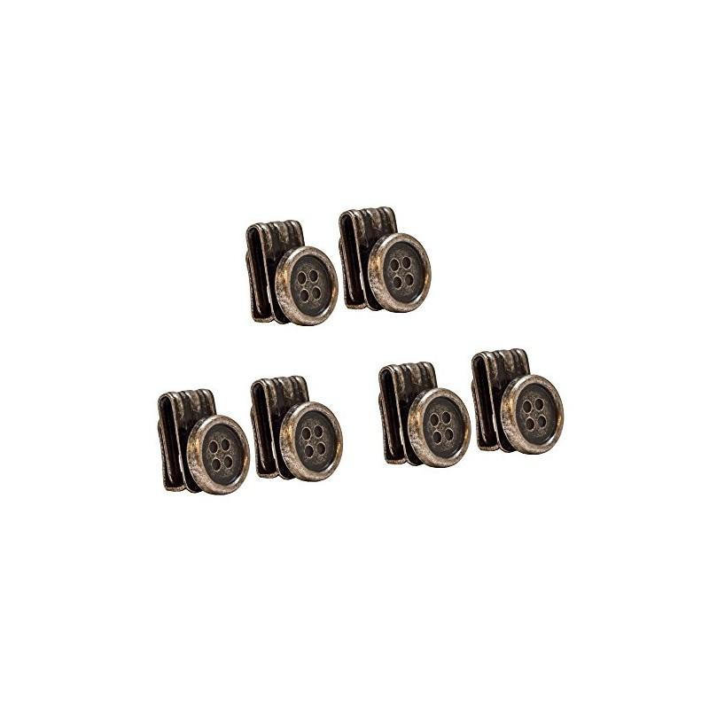 Bouton clips pour bretelles bronze