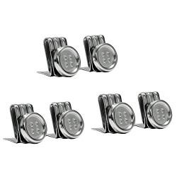 Bouton clips pour bretelles argent