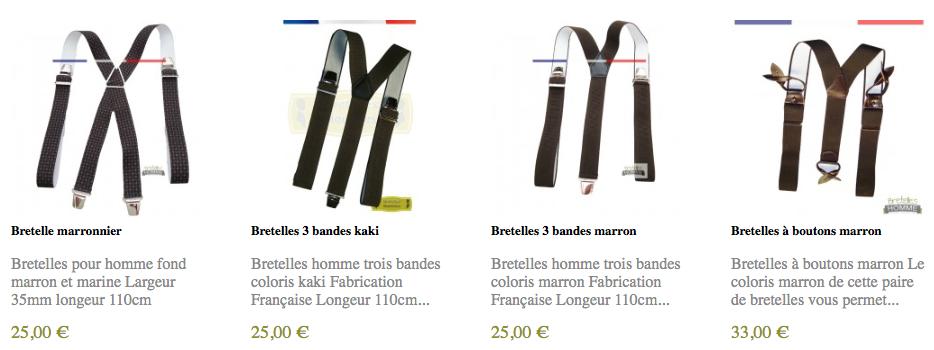 acheter des bretelles marron